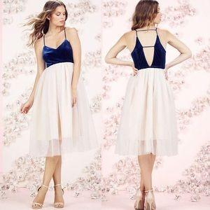 LC Lauren Conrad Runway dress tulle blue velvet 8